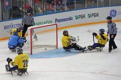 Sledge hockey Stock Images