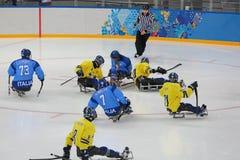 Sledge hockey Royalty Free Stock Images