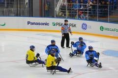 Sledge hockey Royalty Free Stock Image