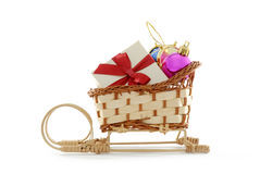 Sledge with presents Royalty Free Stock Photography