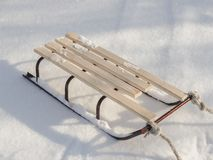 Sledge in Snow, Winter Holidays. royalty free stock photos