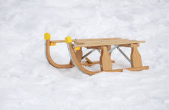 Sledge in snow Stock Photos