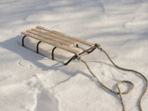 Sledge in Snow, Winter Holidays. stock images