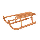 Sledge. Vector. Wooden Sledge, Isolated On White Background, Vector Illustration Royalty Free Stock Photos