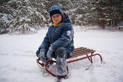 On sledge Stock Photos