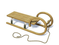 Sledge in winter. Sledge in winter,  tilted front and isolated Stock Photos