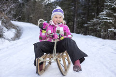 Sledge in winter Royalty Free Stock Photography