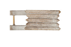 Sledge. A wooden small sledge, isolated on white Stock Photography