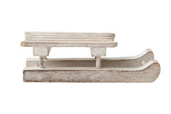 Sledge. A wooden small sledge, isolated on white Stock Photo