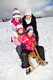 Sledging Royalty Free Stock Images