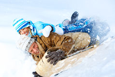 Sledging Royalty Free Stock Photos