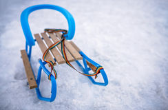 Sleds on the snow Stock Images