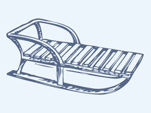 slee Vector tekening Royalty-vrije Stock Foto