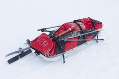 Slee voor achter-land het ski?en Stock Foto's
