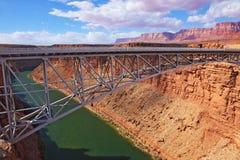 Sleek  bridge across Colorado Stock Photos