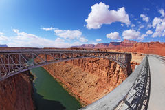 Sleek  bridge  in the Navajo Reservation Stock Image