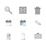 Sleek Business Icons Royalty Free Stock Image