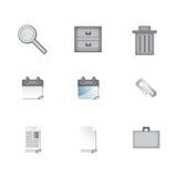 Sleek Business Icons Royalty Free Stock Image