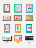 Sleek design a set of books. Modern style icons infographic. Vec Stock Photo