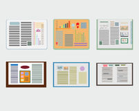 Sleek design a set of books. Modern style icons infographic. Royalty Free Stock Photography