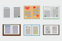 Sleek design a set of books. Modern style icons infographic. Stock Images