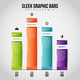 Sleek Graphic Bars Infographic Stock Photography