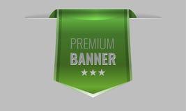 Sleek green web ribbon or bookmark. Vector Illustration. Sleek green web ribbon or bookmark hanging down. Vector Illustration vector illustration