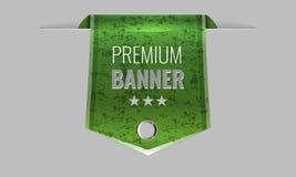Sleek green web ribbon or bookmark. Vector Illustration Royalty Free Stock Photos