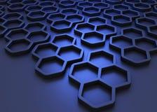 Sleek Honeycomb Background Stock Photos