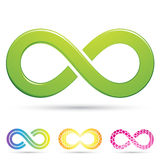 Sleek infinity symbols. Vector illustration of sleek style Infinity Symbols Royalty Free Stock Images