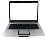 Sleek Laptop with Clipping Path Stock Images