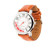 Sleek leather watch Stock Photos