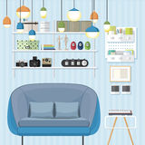 Sleek Living Room Royalty Free Stock Photo