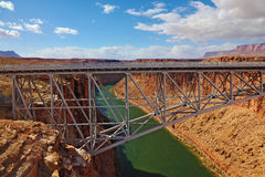 Sleek modern bridge Royalty Free Stock Image