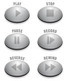 Sleek Silver Button Stock Photos