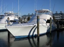 Sleek Sport Fishing Boat in Ocean City Maryland royalty free stock images