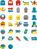 Sleek Web Icons Royalty Free Stock Photography