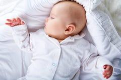 Sleep. Close-up of sweet baby sleeping in cradle Stock Images