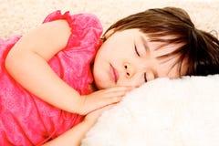 Sleep. Close-up of lovely little girl sleeping Royalty Free Stock Photos