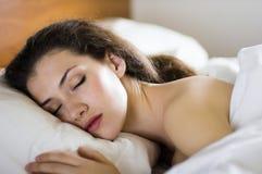 Sleep. A girl is having a sleep of a just stock photo