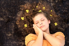Sleep. Ing child, sweet dreams, dream or dreaming stock images