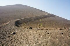 Sleep aan Cinder Cone bij het Vulkanische Nationale Park van Lassen royalty-vrije stock foto's
