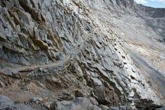 Sleep aan de zuidenkant van Houtvester Pass op John Muir Trail stock afbeelding