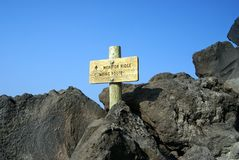 Sleep aan Mt. St. Helens, de staat van Washington Royalty-vrije Stock Fotografie