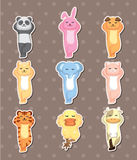 Sleep animal stickers. Cartoon vector illustration Royalty Free Stock Images