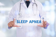 SLEEP APNEA. Medicine doctor hand working royalty free stock photos