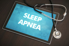 Sleep apnea (neurological disorder) diagnosis medical concept on Stock Photo