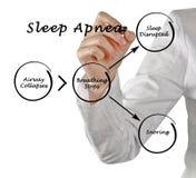 Sleep Apnea. Presenting Diagram of Sleep Apnea Stock Image