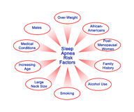Sleep Apnea Risk Factors Stock Image