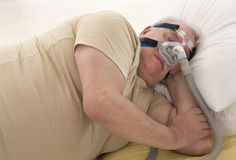 SLEEP APNEA SYNDROME SENIOR Stock Photography